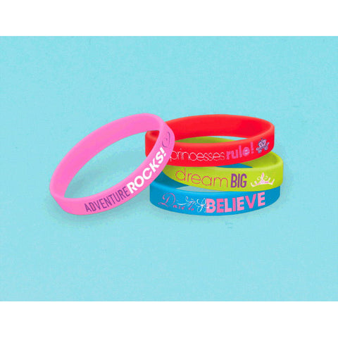 Princess Dream Big Rubber Bracelets 6ct.