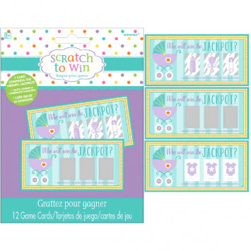 Baby Shower Scratch Off Cards 12ct.