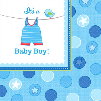 Shower with Love Boy Luncheon Napkins 16ct.