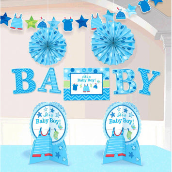Shower with Love Boy Room Decorating Kit