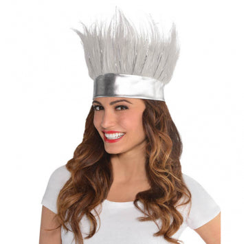 Silver Crazy Hair Headband