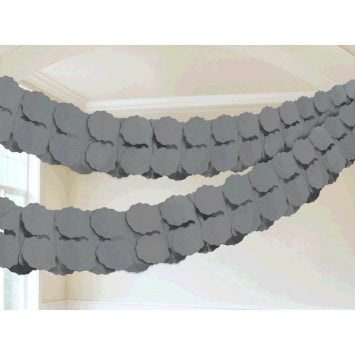 Silver Paper Garland 12'