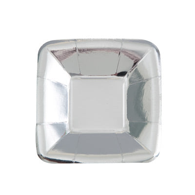 "Silver 5"" Rectangular Appetizer Plates 8ct."