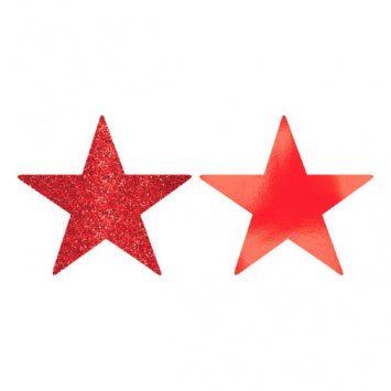Apple Red Small Star Cutouts 5ct.