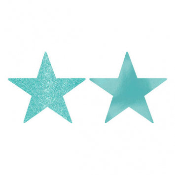 Robin's Egg Blue Small Star Cutouts 5ct.