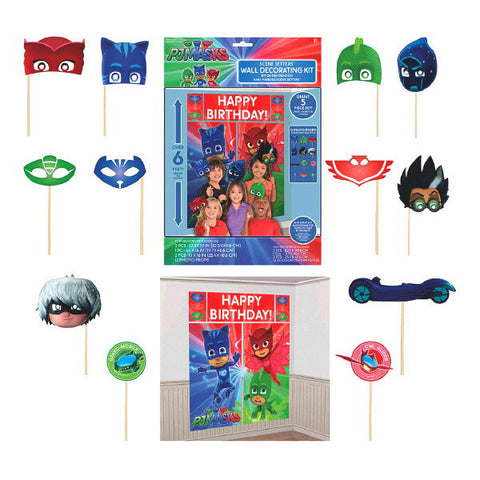 PJ Masks Scene Setters Wall Decorating Kit w/Props 17pc.