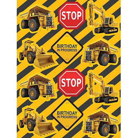Construction Birthday Zone Value Stickers 4ct.