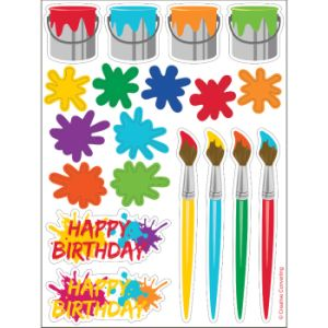 Art Party Value Stickers 4ct.