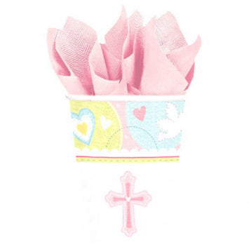 Sweet Christening Pink 9oz. Cups 8ct.