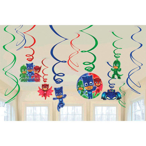 PJ Masks Value Pack Foil Swirl Decorations