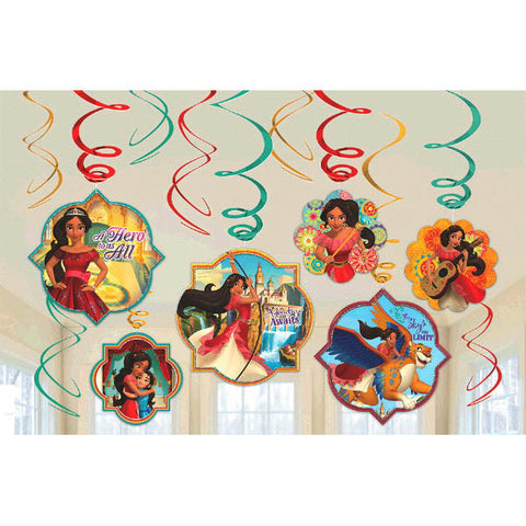 Elena of Avalor Value Pack Foil Swirl Decorations 12ct.