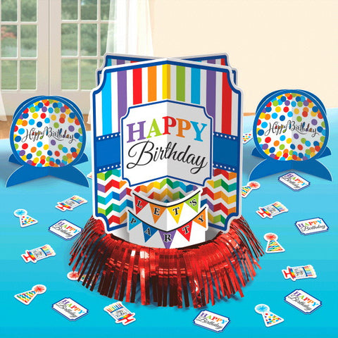 Bright Birthday Table Decorating Kit