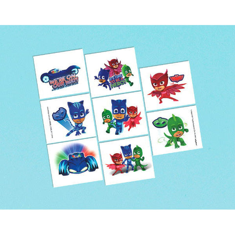 PJ Masks Tattoo Favors 1 Sheet 8ct.