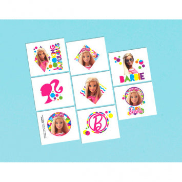 Barbie Sparkle Tattoo Favors 1 Sheet 8ct.