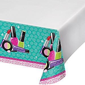 "Sparkle Spa Party! Plastic Tablecover 54""x102"""