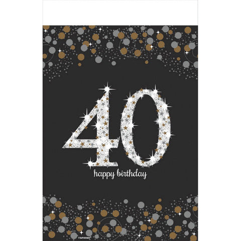Sparkling Celebration 40 Plastic Table Cover
