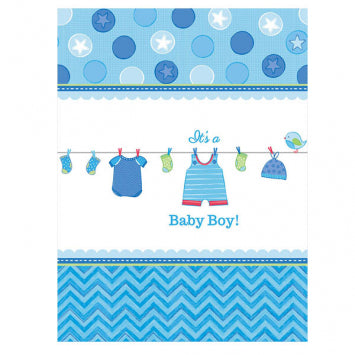 Shower with Love Boy Plastic Tablecover