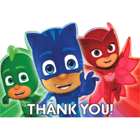 PJ Masks Postcard Thank You Cards 8ct.