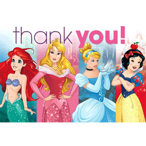 Princess Dream Big Postcard Thank You Cards 8ct.