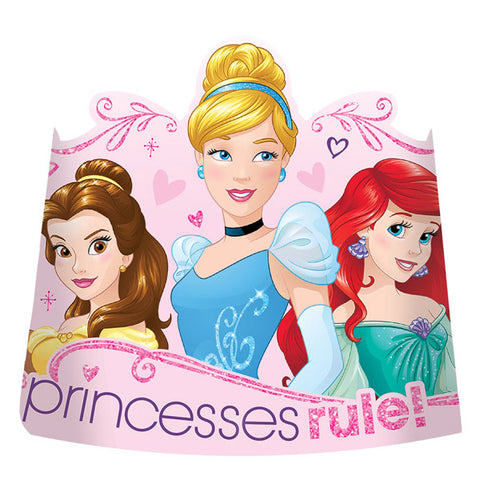 Princess Dream Big Glitter Paper Tiaras 8ct.