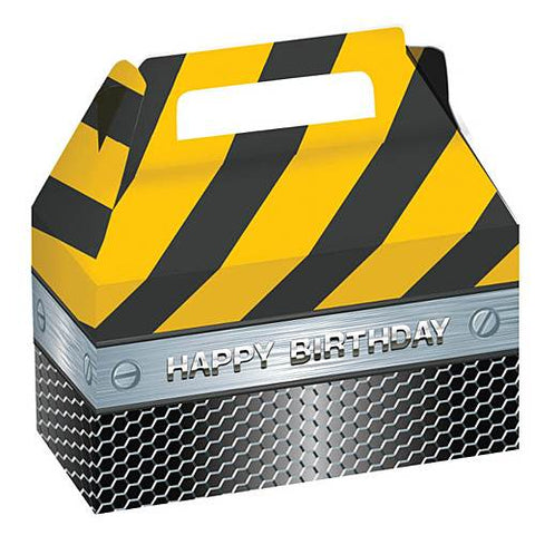 Construction Birthday Zone Treat Boxes with Foil 2ct.