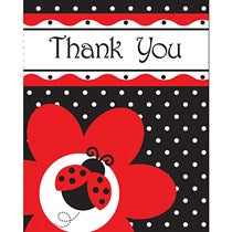 Ladybug Fancy Thank You 8ct.