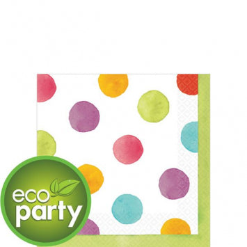 Watercolor Dots Beverage Napkins 36ct.