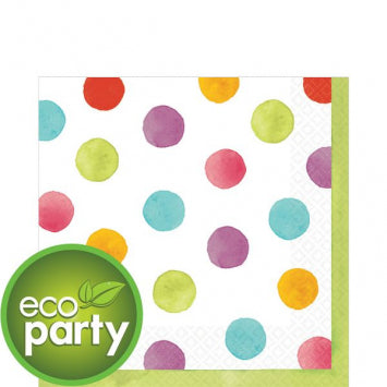 Watercolor Dots Luncheon Napkins 36ct.