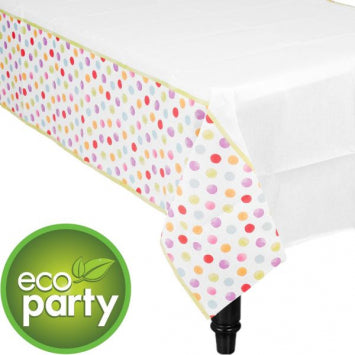 Watercolor Dots Paper Table Cover