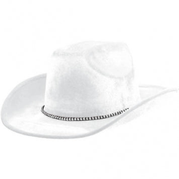 White Velour Cowboy Hat