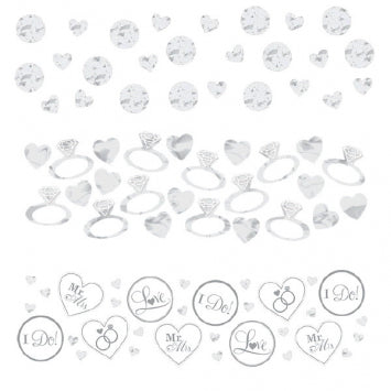 White - I Do & Ring Value Confetti