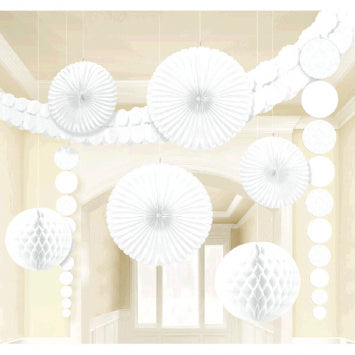 White Bridal Damask Wedding Decorating Kit