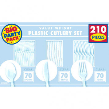 Clear Value Window Box Cutlery Set 210ct.