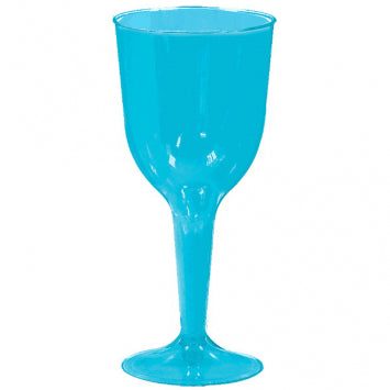 Caribbean Blue 10oz. Plastic Wine Glass 20ct.