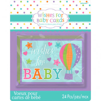 Baby Shower Wishes For Baby Cards 24ct.