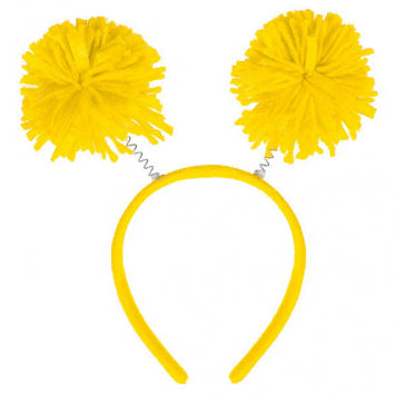 Yellow Pom Pom Headbopper