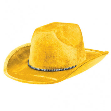 Yellow Velour Cowboy Hat