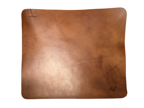 4V Design WLM-BROWN 33x29 Brown Leather Mat