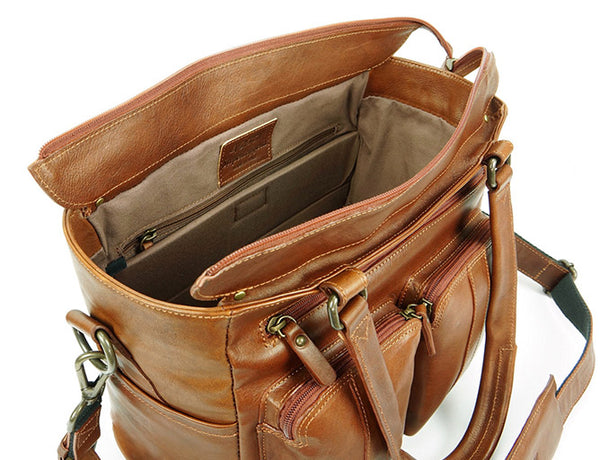 4V Design Fede Large Leather Camera Purse Bag