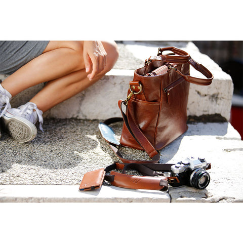 4V Design Anna Leather Camera Bag