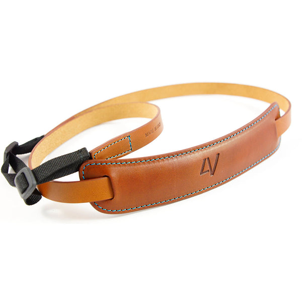 4V Design Classic Large Leather Camera Strap - w Universal Fit Kit