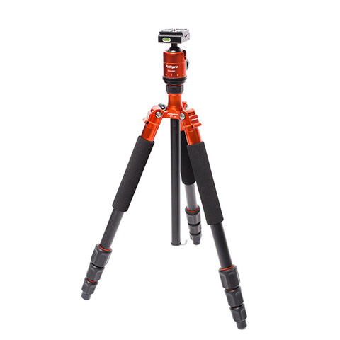 "FotoPro CT-4A  -  4-Sections Aluminum Tripod with FPH-53P Head, 18 lbs Capacity, 58"" Max Height"
