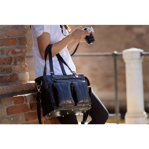 4V Design Fede Leather Camera Bag