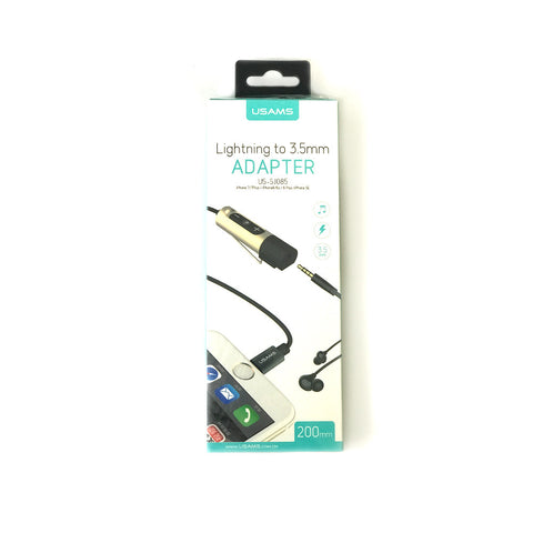 USAMS Lighting to 3.5mm Adapter for Headphones