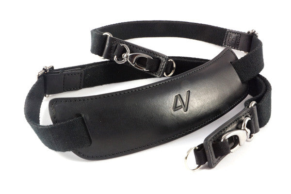 4V Design Lusso Large Top Leather Neck Strap with Quick release kit