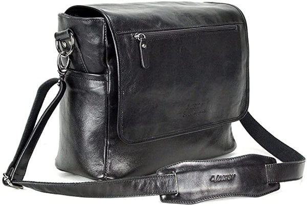 4V Design Simo | Leather Camera Messenger Bag