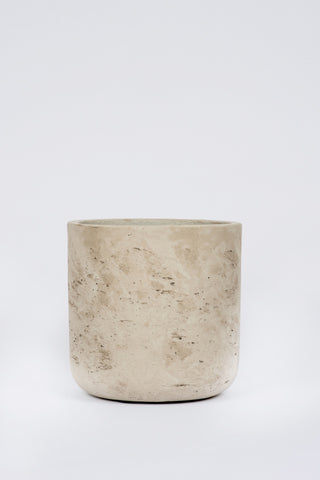 Straight Cement Pot Stone: Large