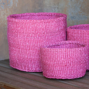 Single Colour Sisal Basket: L