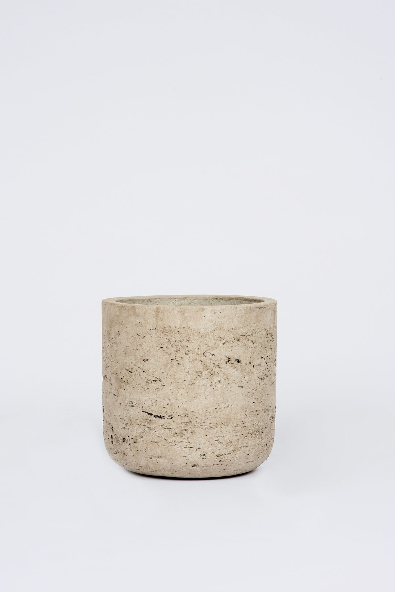 Straight Cement Pot Stone: Small