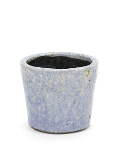 Blue Crackle Pots